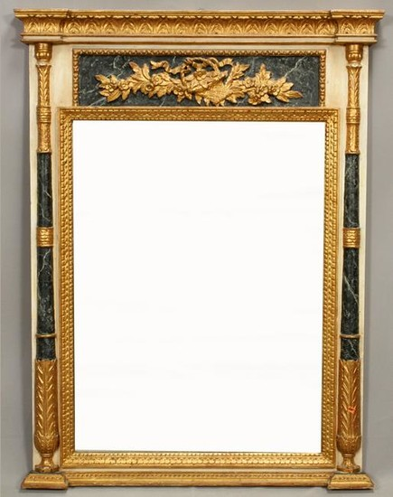 """FRENCH, EMPIRE STYLE MIRROR, H 52"""", W 40"""""""