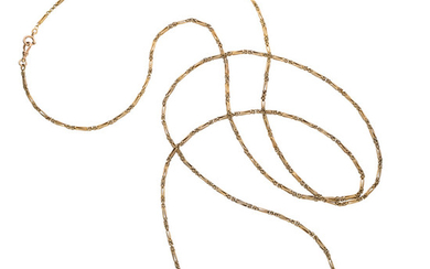 Gold Necklace, Russian The 14k gold necklace weighs 86.60...