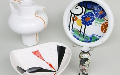 Group of (4) modern ceramic items
