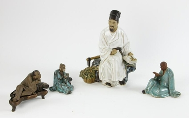 Group of Chinese Shiwan Pottery Pieces