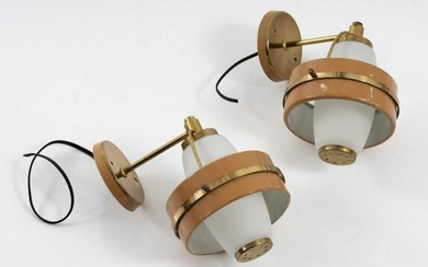 Italy, Set of two wall lights, c. 1960