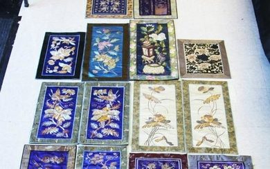 LOT OF (14) CHINESE SILK EMBROIDERIES
