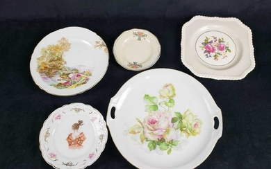 Lot of 5 Porcelain Plates