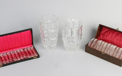 Lot of various old glassware / crystal.&#160 20th