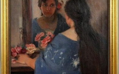 "Lucien Abrams O/C ""Woman At Mirror"""