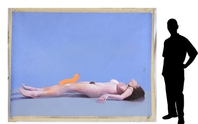 """MARTIN HOFFMAN PLAYBOY """"TOBY"""" NUDE PAINTING"""