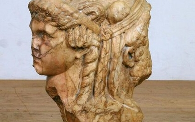 Marble sculpture in Roman style of a double...