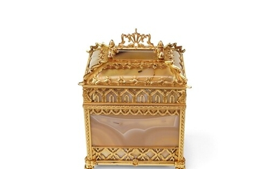 A Rare Gold and Agate Perfume Necessaire - Museum Quality in...