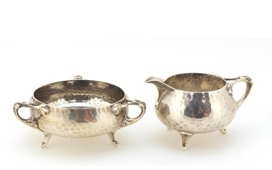 Northern Goldsmith Company, Arts & Crafts planished silver m...