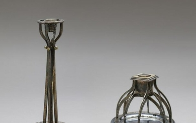 PAOLO PORTOGHESI Pair of candle holder, Alessi