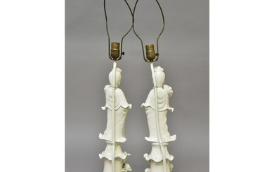 Pair of Chinese Blanc de Chine Lamps