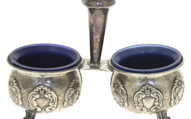 Pair of Sterling Silver Salt Cellars.