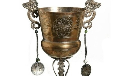 Peruvian and Bolivian Silver Wedding Chalice 19th