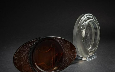 René Lalique, Two ashtrays, 1927 and 1924