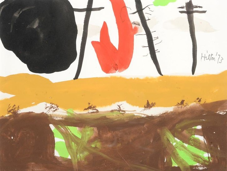 Roger Hilton CBE (1911-1975) ''Untitled 1973'' Signed and dated 1973,...
