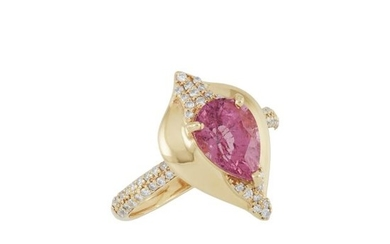 Rose Gold, Pink Spinel and Diamond Ring