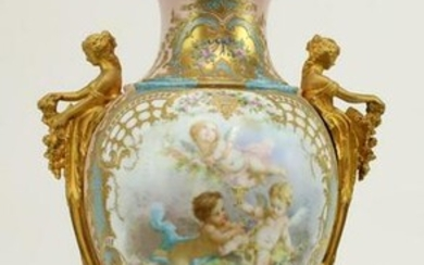 Sèvres Porcelain Vase with Cover
