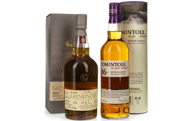 TOMINTOUL AGED 16 YEARS AND GLENKINCHIE 12