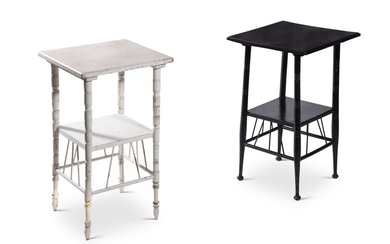 TWO SIMILAR OCCASIONAL TABLES, AFTER E. W. GODWIN