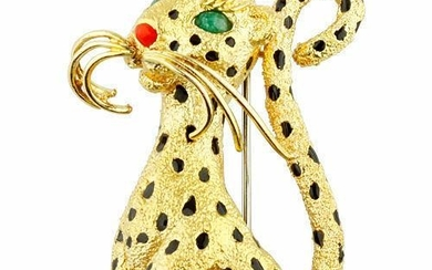 Van CLeef & Arpels 18K Yellow Gold Leopard Panthere