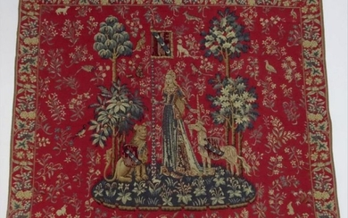 Vintage French Medieval Style Tapestry Wall Hanging
