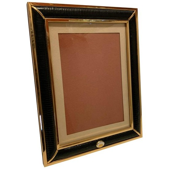 Wonderful Gucci Brass Snake Skin Picture Frame Made in