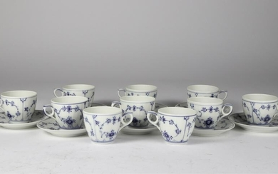 (10) ROYAL COPENHAGEN DEMI TASSE CUPS & SAUCERS