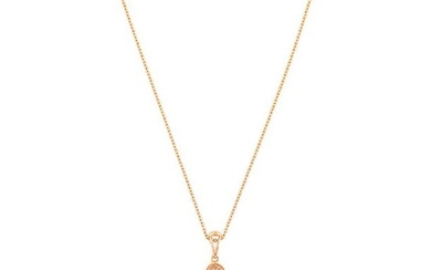 """1.26 CT PINK DIAMOND GOLD NECKLACE""L40.9 cm, 19.3×28.0 mm, 5.4 g"