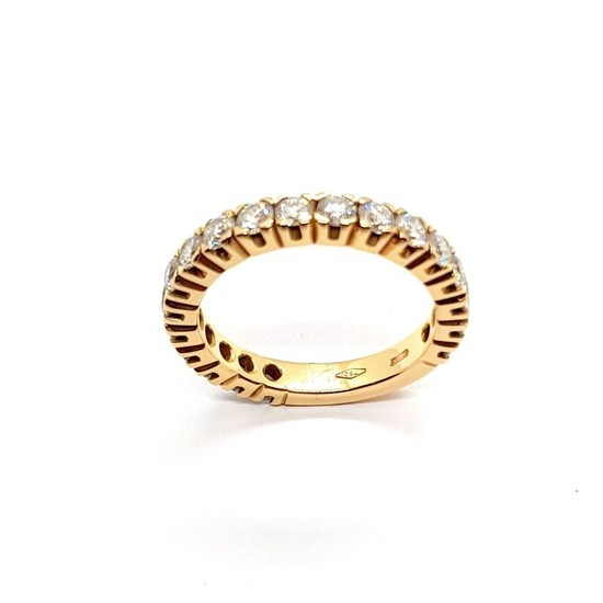 18 kt. Pink gold - Ring Diamond
