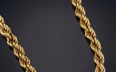 18K YELLOW GOLD CURLY LINK CHAIN. Output: 1.000,00...