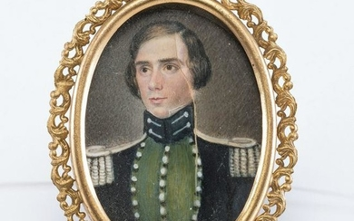Miniature Portrait of Seminole War-Era Captain George
