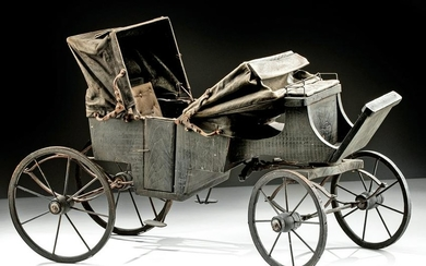 19th C. American Horse Drawn Buggy / Carriage Model
