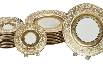 23 Tiffany Minton Gilt Decorated Plates