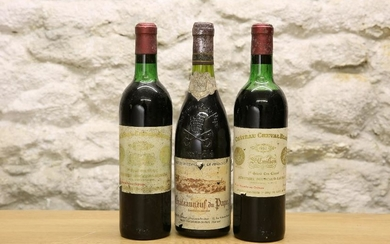 3 BOTTLES MIXED LOT OF FINE RARE, MATURE CLARET AND