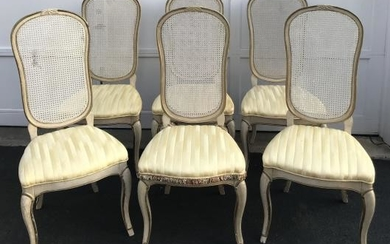 6 Mid Century French Provencal Style Dining Chairs