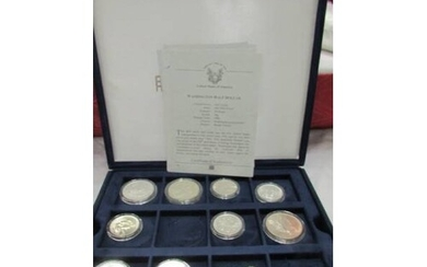 9 silver dollars and half dollars from official coins of the...