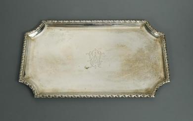 A 19th century French metalwares silver dressing table