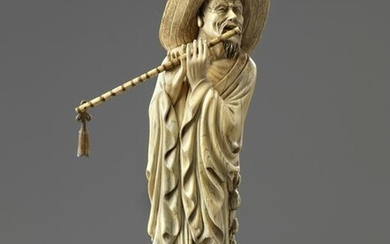 A CHINESE CARVED IVORY MUSICIAN, CHINA, 19TH-20TH