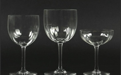 A Collection of Baccarat Stemware.