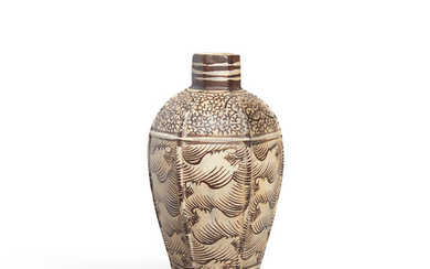 A Jizhou Brown-Painted Stoneware Wave Vase, Meiping