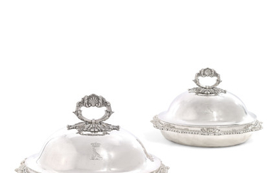 A PAIR OF GEORGE III SILVER ENTREE-DISHES, MARK OF PAUL STORR, LONDON, 1809