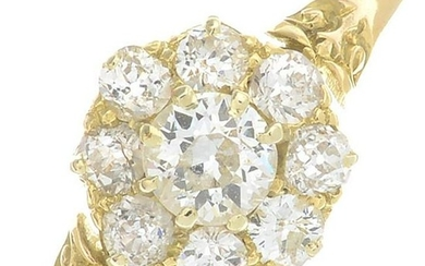 A late Victorian 18ct gold old-cut diamond cluster