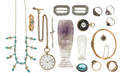 A mixed group of jewellery including a seed...