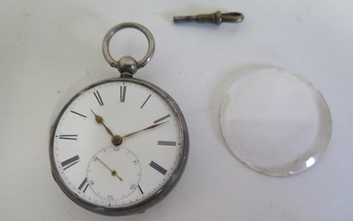 A silver cased pocket watch by Charles Pace, London - fusee ...