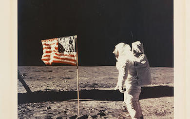 APOLLO 11 LARGE FORMAT SIGNED PHOTOGRAPH