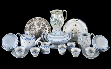 An assortment of mostly Staffordshire and South Yorkshire pearlware