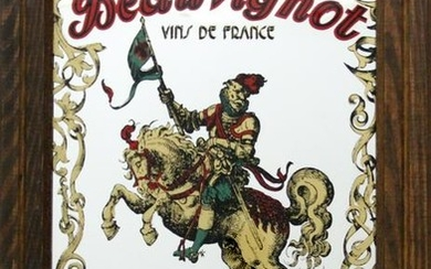 Antiques, Beauvignot - Man on Horse, Paint on Mirror