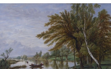 BRITISH SCHOOL (19th CENTURY) OIL PAINTING ON CANVAS LAID DO...