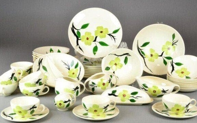 Blue Ridge Southern Pottery Hand painted floral design in...