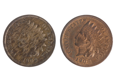 Both San Francisco Indian Cents 1908-S 1909-S